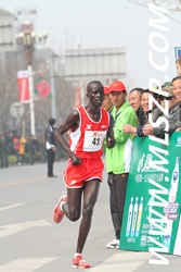 Amos on his way to 5th at ZK in China - A tough race