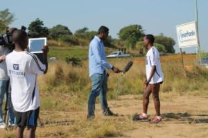 Comrades Marathon 2013, pictures Stephen Muzhingi ETV interview with Myron Naicker, Munya Jari, Craig Fry