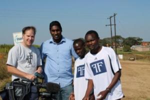Comrades Marathon 2013, pictures Stephen Muzhingi ETV interview with Myron Naicker, Munya Jari, Craig Fry and Terrence, awesome cameraman