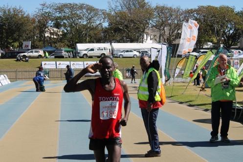 Collen Makaza Legends Marathon 2013 winner